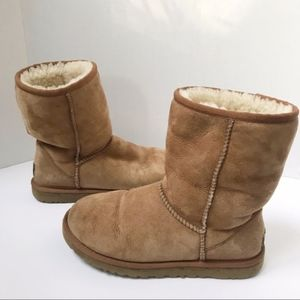 Authentic UGG Chestnut color sheep skin boots 6